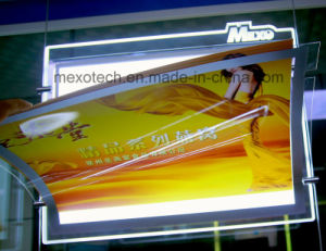 Laser Carved Logo Magnetic Acrylic LED Slim Advertising Light Box pictures & photos