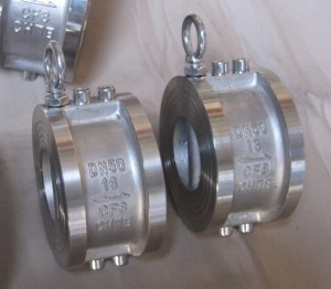 Stainless Steel Wafer Type Dual Plate Check Valve (H76W-16P) pictures & photos