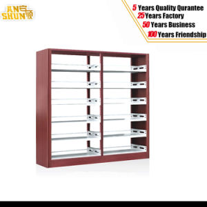 Knock Down Double Side Steel Bookshelf for School pictures & photos
