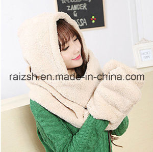Warm Cashmere Scarves Hats Gloves Conjoined pictures & photos