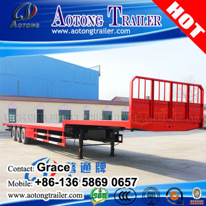 Factory Best Sale 2 Axle or 3 Axles 20feet 40FT 45FT 53FT Flatbed Container Chassis Semi Trailer pictures & photos