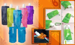Foldable Sport Water Bottle with Carabineer pictures & photos