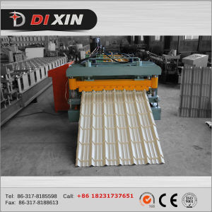 Colored Steel Roof Panel Roll Forming Machinery pictures & photos