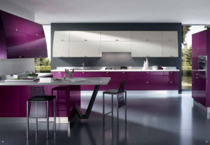 Kitchen Furniture High Modern Design Gloss Lacquer Finish Kitchen Cabinets