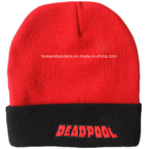 Factory OEM Produce Custom Logo Embroidered Promotioanl Acrylic Knitted Hat Beanie pictures & photos