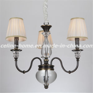 Atique Iron Chandelier Light with Fabric Shade (SL2068-3) pictures & photos