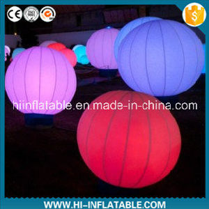 Custom Made Wedding, Event Decoration Inflatable Ground Ball with Changeable LED Light for Sale