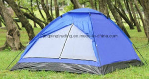 Waterproof 100% Polyester Single-Skin Camp Tent for 4 Persons (JX-CT018) pictures & photos