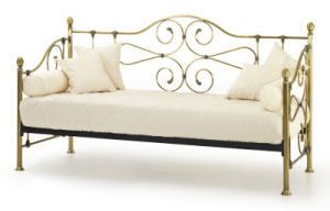 3′ Single Metal Day / Guest Bed/ Finished in Antique Brass/Metal Day Bed pictures & photos
