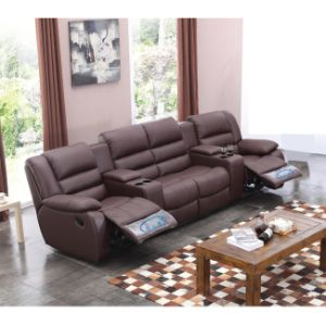 Comfortable VIP Home Cinema Theater Recliner Leather Sofa 6035TV pictures & photos