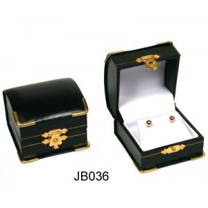 Leather Earrings Display Box with Lock (JB-026) pictures & photos