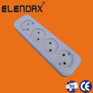 EU 10A 4 Way 2 Pin Power Strip Socket (E8004) pictures & photos