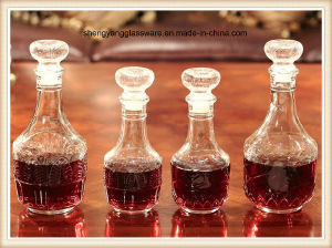 2PC Maple Leaf/Lotus Glass Wine Bottle Set with Glass Lid pictures & photos