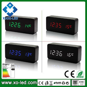 DC 6V Input or AA Battery Power Supply Wooden LED Art Clock