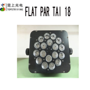 18* 3W RGB 3 in 1 Tri LED Flat PAR 18 PCS LED PAR Light