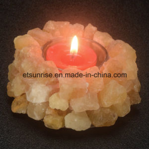 Semi Precious Stone Amethyst Crystal Candle Holder pictures & photos