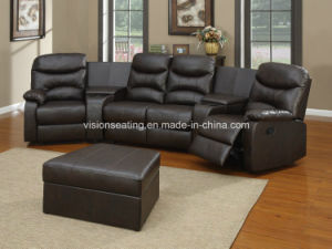 Home Theater Style Cinema Movie Entertainment Room Reclining Reclinable Couch (2602) pictures & photos