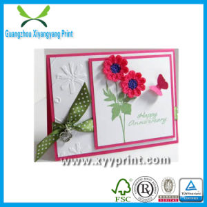Factory Custom Luxury Paper Greeting Card Wholesale with Pendant pictures & photos