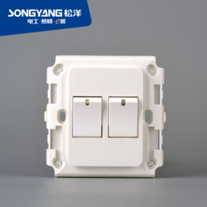 A4 White 2gang New Wall Light Switch pictures & photos