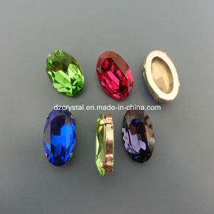 Wholesale Oval Crystal Stone for Rhinestones Jewelry Making Supplies pictures & photos