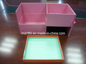 Foldable White Gray Paper Packaging Box in Double Layer pictures & photos