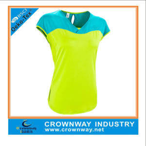 Custom Dry Fit Short Sleeve Sport Shirts for Women pictures & photos