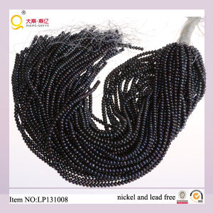 4-5mm Black Button Freshwater Pearl Lose Pearl Strands pictures & photos