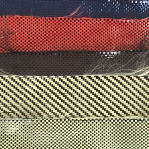 Red and Black Kevlar Carbon Fiber Cloth