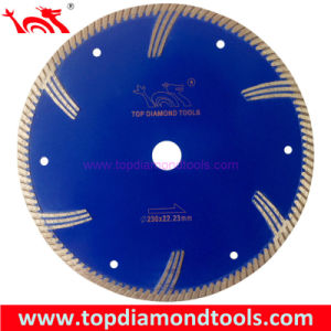 Diameter 230mm Sinter Diamond Turbo Blade with Side Segments pictures & photos