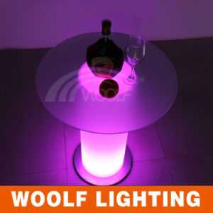 LED Glass Top Rotating Round Bar Tables pictures & photos