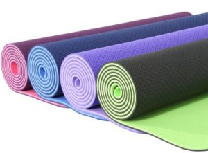 Non Slip TPE Yoga Mat pictures & photos