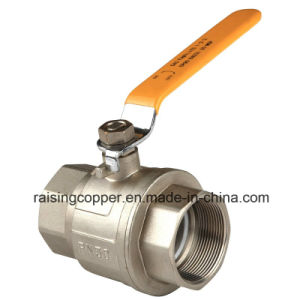 Nickle Plating Brass Ball Valve with Steel Handle pictures & photos