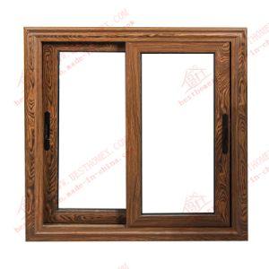 High Quality Woodgrain Aluminium Sliding Window (BHA-SW10) pictures & photos