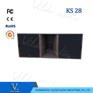 Ks28 Double 18 Inch Bass Speaker Line Array Subwoofer pictures & photos