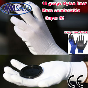 Nmsafety PU Coated Household Electrical Appliances Work Glove pictures & photos