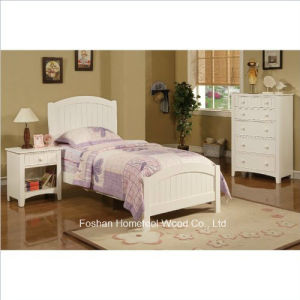 3 Piece Kids Twin Size Bedroom Set in White Finish pictures & photos