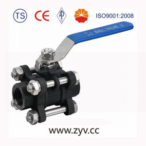 High Pressure Three PCS Forged Ball Valve pictures & photos