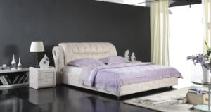 Modern Leather Soft Bed, Bedroom Furniture (6007) pictures & photos