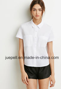 Cuffed Short Sleeves Dual Chest Pocket Fashion Shirt pictures & photos