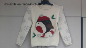 Girls Intarsia - True Knitted Sweater pictures & photos