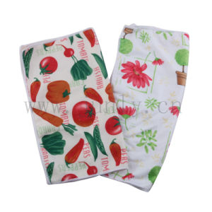 Fruits and Vegetables Pattern Microfiber Cleaning Cloth (JL-171) pictures & photos