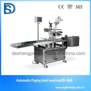 Ds-631 Ce Approved Automatic Linear Hot Melt Glue Labeling Machine
