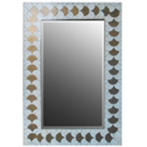 Rectangle Wooden Mirror Frame with Foiled Ginkgo Leaves Edge (LH-423612) pictures & photos