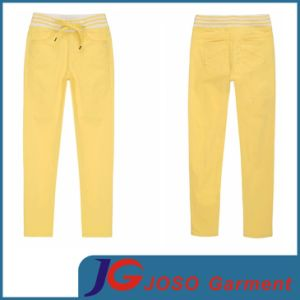 100% Cotton Twill Fabric Girls Fashion Jeans (JC1292) pictures & photos