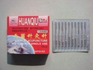 0.18X10mm Acupuncture Needle Without Tube, Silver/Copperr Handle - Huanqiu Brand pictures & photos