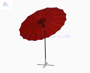 9ft 18ribs Glass Fiber Umbrella Hand Push Umbrella Outdoor Umbrella Beach Umbrella Parasol pictures & photos