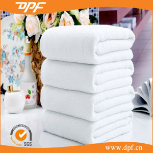 Towel Factory Supply Plain Solid Cotton White Hotel Bath Towel pictures & photos