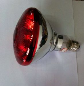 Red Cover Hard Glass Infrared Heat Halogen Bulb pictures & photos