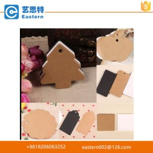 Christmas Tree Shape Kraft Hang Tags pictures & photos