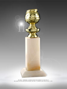 Unique Golden Globe Award Trophy with an Elegant Look for Ceremony Use